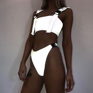 Swim - Rave Outfit - Reflective Crop Top & Booty Set